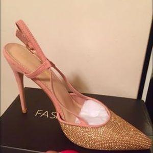 Fashion Nova Blush Heels Size 10